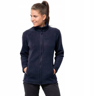 JACK WOLFSKIN Midnight Moon Women - midnight blue - damska kurtka polarowa