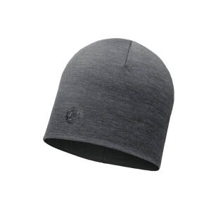 BUFF Heavyweight Merino Wool Hat Regular Solid Grey - sportowa czapka zimowa merynosowa