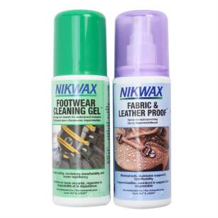 Zestaw Nikwax  Fabric & Leather Proof™ + Footwear Cleaning Gel™