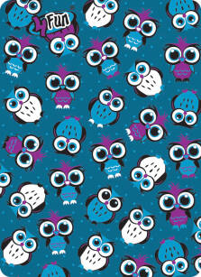 Chusta 4 FUN Standard Kid - Owl Blue