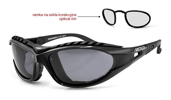 Sportowe okulary Korekcyjne z wewnętrzną ramką z perspektywy