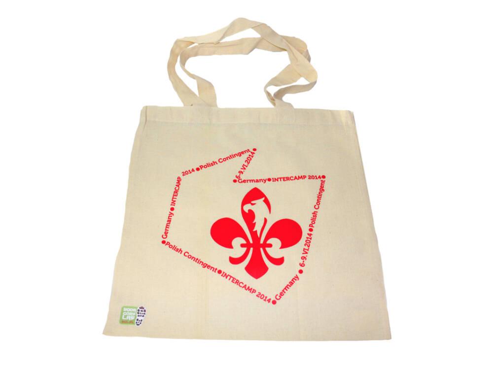 Torba bawełniana ekologiczna z logo lilijką ZHP