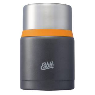 ESBIT Food Jug Plus 0.75 l dark grey/orange - Termos obiadowy + Łyżka