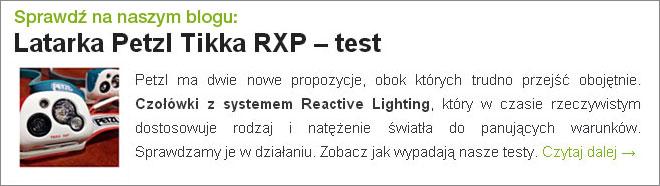 Latarka Petzl Tikka RXP - test