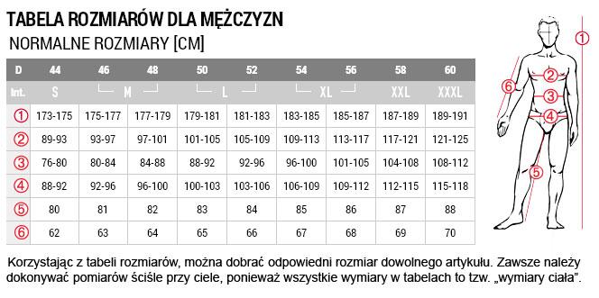 Jack Wolfskin Odzież męska Tabela rozmiarów Sportowy